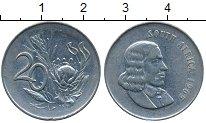 Изображение Дешевые монеты Африка ЮАР 20 центов 1965
