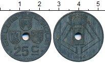 Изображение Дешевые монеты Бельгия 25 сантим 1944 Цинк VF+