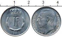 Изображение Дешевые монеты Люксембург 1 франк 1978