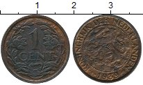 Изображение Дешевые монеты Нидерланды 1 цент 1939