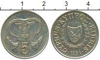 Изображение Дешевые монеты Кипр 5 центов 1994