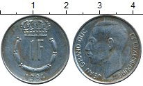 Изображение Дешевые монеты Люксембург 1 франк 1984