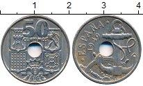 Изображение Дешевые монеты Европа Испания 50 сентим 1949