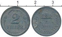 Изображение Дешевые монеты Венгрия 2 филлера 1943 Цинк VF+