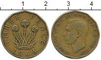 Изображение Дешевые монеты Европа Великобритания 3 пенса 1944