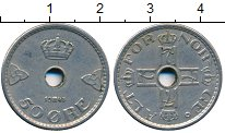 Изображение Дешевые монеты Норвегия 50 эре 1943