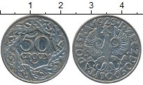 Изображение Дешевые монеты Европа Польша 50 грошей 1923 Медно-никель XF