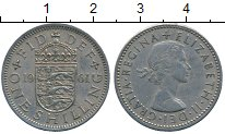 Изображение Дешевые монеты Великобритания 1 шиллинг 1961 Медно-никель XF