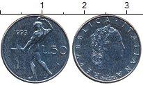 Изображение Дешевые монеты Европа Италия 50 лир 1993 нержавеющая сталь XF