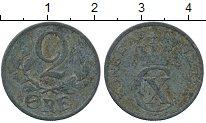 Изображение Дешевые монеты Дания 2 эре 1943 Цинк VF