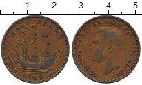 Изображение Дешевые монеты Европа Великобритания 1/2 пенни 1948 Медь XF-