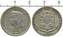 Изображение Дешевые монеты Филиппины 25 сентим 1970 Медно-никель VF