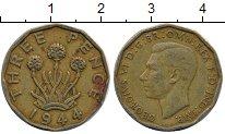 Изображение Дешевые монеты Великобритания 3 пенса 1944 Медь XF