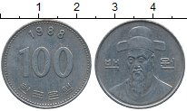 Изображение Дешевые монеты Южная Корея 100 вон 1988 Медно-никель XF