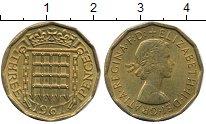 Изображение Дешевые монеты Великобритания 3 пенсов 1967 Латунь XF