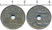 Изображение Дешевые монеты Европа Испания 50 сентим 1949 Медно-никель XF