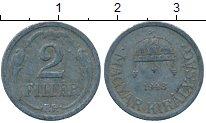 Изображение Дешевые монеты Европа Венгрия 2 филлера 1943 Цинк VF+