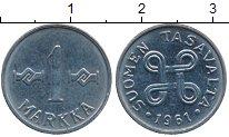 Изображение Дешевые монеты Финляндия 1 марка 1961 Железо VF+
