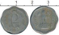 Изображение Дешевые монеты Азия Индия 2 пайса 1963 Алюминий VF