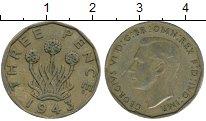 Изображение Дешевые монеты Великобритания 3 пенса 1943 Медь XF-