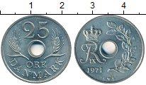 Изображение Дешевые монеты Дания 25 эре 1971 Медно-никель XF