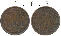 Изображение Дешевые монеты Нидерланды 1 цент 1929 Медь XF-