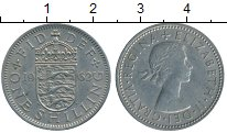 Изображение Дешевые монеты Великобритания 1 шиллинг 1962 Медно-никель XF