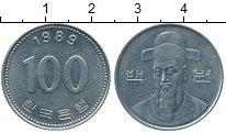 Изображение Дешевые монеты Южная Корея 100 вон 1989 Медно-никель XF