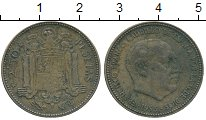 Изображение Дешевые монеты Испания 2,5 песеты 1953 Медь VF