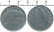 Изображение Дешевые монеты Ирландия 10 пенсов 1976 Медно-никель XF