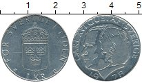 Изображение Дешевые монеты Швеция 1 крона 1978 Медно-никель XF