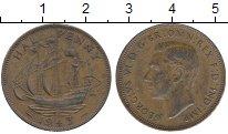 Изображение Дешевые монеты Великобритания 1/2 пенни 1943 Медь XF-
