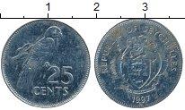 Изображение Дешевые монеты Сейшелы 25 центов 1997 Медно-никель VF