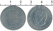 Изображение Дешевые монеты Швеция 1 крона 1969 Медно-никель XF+