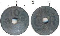 Изображение Дешевые монеты Дания 10 эре 1944 Цинк VF