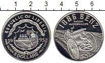 Изображение Монеты Либерия 5 долларов 1995 Серебро UNC Автомобиль Бенц 1886