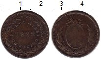 Изображение Монеты Южная Америка Аргентина 1 десимо 1822 Медь VF+