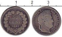 Изображение Монеты Европа Франция 50 сантим 1845 Серебро VF+