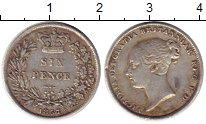 Изображение Монеты Европа Великобритания 6 пенсов 1857 Серебро XF
