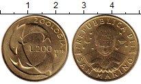 Изображение Монеты Сан-Марино 200 лир 1998 Латунь UNC