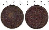 Изображение Монеты Мадейра 10 рейс 1842 Медь VF