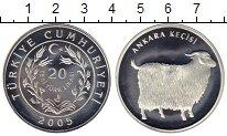 Изображение Монеты Турция 20 лир 2005 Серебро Proof-