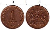 Изображение Монеты Южная Америка Тринидад и Тобаго 1 цент 1968 Бронза XF