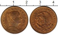 Изображение Монеты Мексика 5 сентаво 1961 Бронза VF Хосефа Ортис де Доми