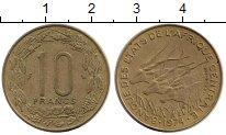 Изображение Монеты Африка Центральная Африка 10 франков 1974 Латунь XF