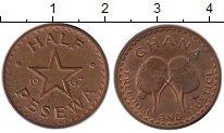 Изображение Монеты Африка Гана 1/2 песева 1967 Бронза XF
