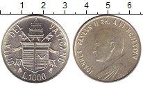Изображение Монеты Европа Ватикан 1000 лир 1984 Серебро UNC-
