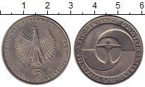 Изображение Монеты Германия ФРГ 5 марок 1982 Медно-никель UNC-