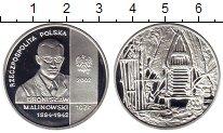 Изображение Монеты Польша 10 злотых 2002 Серебро Proof Бронислав Малиновски