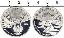 Изображение Монеты Польша 10 злотых 2001 Серебро Proof 15 лет Конституционн